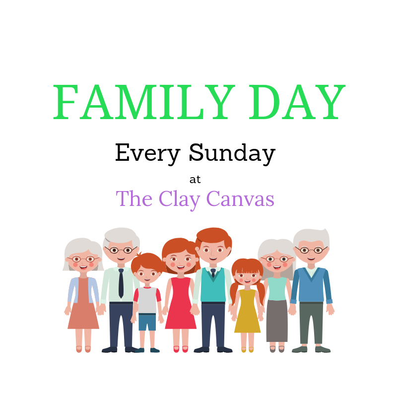 Family Day at The Clay Canvas